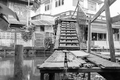 Old wooden bridge royalty free stock photo