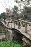 Old wooden bridge. Antalya. Royalty Free Stock Photography