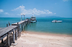 Old wooden bridge in Bophut, Samui, Thailand Royalty Free Stock Image