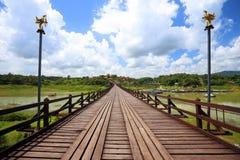 The old wooden bridge Bridge collapse Bridge Royalty Free Stock Photo