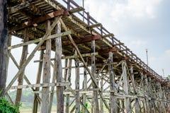 Old wooden bridge Bridge Stock Photo
