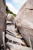 The old wooden bridge of Koh Nang Yuan Royalty Free Stock Photography