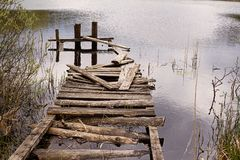 Old dilapidated pier stock images
