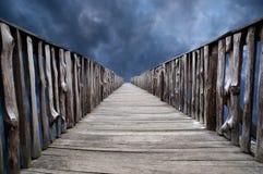 Old wooden bridge Stock Photos