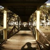 Old Wooden Bridge. The old wooden Bridge that link to Seaside royalty free stock images