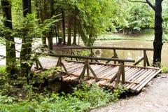 Old wooden bridge Stock Images