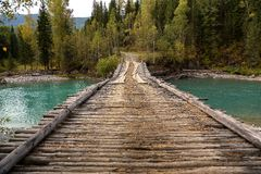 Old wooden bridge Royalty Free Stock Photos
