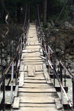 Old wooden bridge with patches. Royalty Free Stock Images