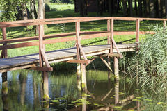 Old wooden bridge Stock Photos