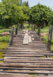 The old wooden bridge on Stock Image