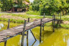 The old wooden bridge on Stock Images