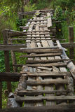 Old wooden bridge. Royalty Free Stock Images
