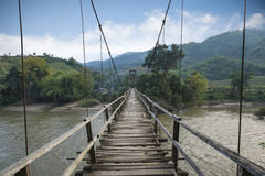 Old wooden bridge. Urban unseen in afternoon Stock Photography