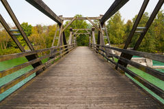 Old  wooden bridge . Stock Images