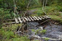 Old wooden bridge Stock Image