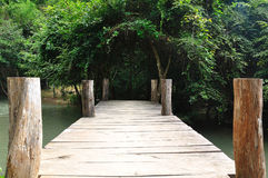 Old wooden brige Stock Photography