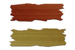 Old wooden brown. On white background Stock Image