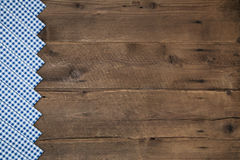 Old wooden brown background in bavarian style with a blue white Stock Images