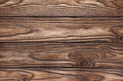 Old wooden brown background of four boards Stock Images