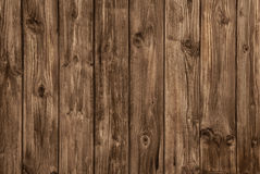 Old wooden brown board - nobody and empty. Royalty Free Stock Photos
