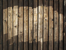Old Wooden Brown Fence Background Stock Photography