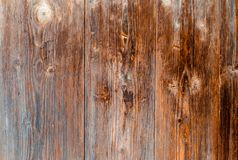 Old wooden brown texture, background for design. horizontally. Abstraction wallpaper Royalty Free Stock Image