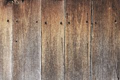 Old wooden brown texture planks Royalty Free Stock Images