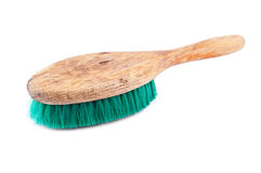 Old wooden brush for cleaning Royalty Free Stock Photos
