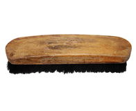 Old wooden brush isolated Stock Image