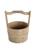 Old wooden bucket isolated Stock Photos