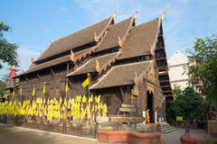 The old wooden buddhist temple Wat Pantao. Chiang Mai, Thailand Stock Photo