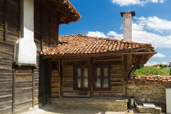 Old wooden building in Bulgaria Stock Photography