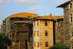 Old wooden building in Buyukada, Turkey Stock Images