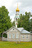 Old wooden building in the central part of Vologda. Stock Images