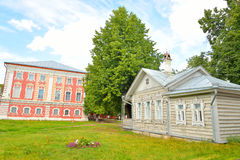 Old wooden building in the central part of Vologda. Stock Image