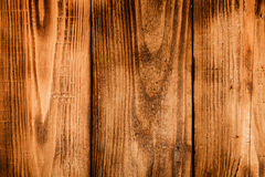Old wooden burned table or board for background. Space for text. Stock Image