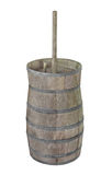 Old wooden butter churn isolated. Royalty Free Stock Image