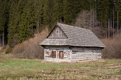 Old wooden cabin Stock Image