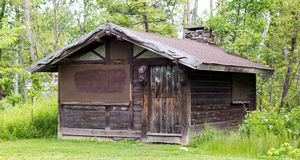 Old wooden cabin. Royalty Free Stock Images