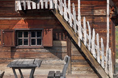 Old wooden cabin log Stock Photography