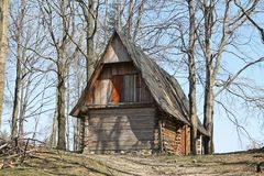 Old wooden cabin royalty free stock image