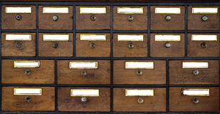 Old wooden cabinet. Stock Photos