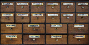 Old wooden cabinet. Stock Photography