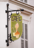 Old wooden cafe sign Royalty Free Stock Images