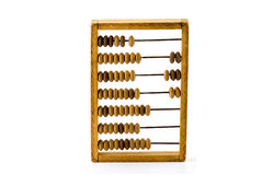 Old wooden calculator Stock Images