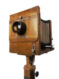 Old wooden camera Royalty Free Stock Images