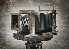 Old wooden camera Royalty Free Stock Photography
