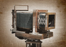 Old wooden camera Royalty Free Stock Photos