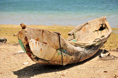 Old wooden canoe Stock Photos