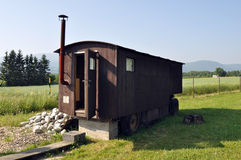 Old wooden caravan Royalty Free Stock Image